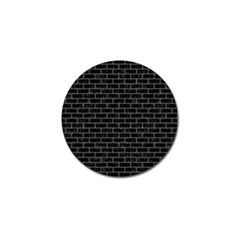 Brick1 Black Marble & Gray Denim (r) Golf Ball Marker (10 Pack) by trendistuff