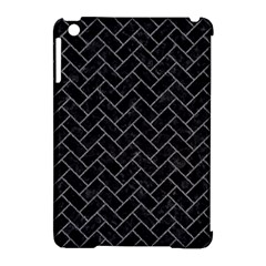 Brick2 Black Marble & Gray Denim (r) Apple Ipad Mini Hardshell Case (compatible With Smart Cover) by trendistuff