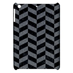 Chevron1 Black Marble & Gray Denim Apple Ipad Mini Hardshell Case by trendistuff