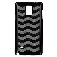 Chevron3 Black Marble & Gray Denim Samsung Galaxy Note 4 Case (black) by trendistuff