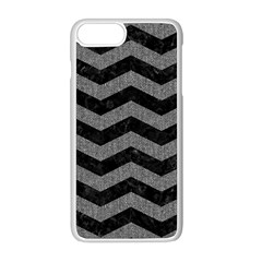 Chevron3 Black Marble & Gray Denim Apple Iphone 8 Plus Seamless Case (white) by trendistuff