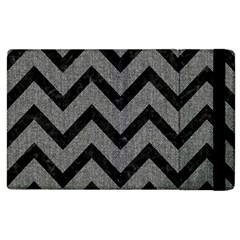 Chevron9 Black Marble & Gray Denim Apple Ipad 3/4 Flip Case by trendistuff
