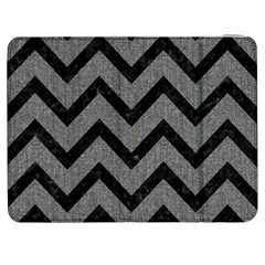 Chevron9 Black Marble & Gray Denim Samsung Galaxy Tab 7  P1000 Flip Case by trendistuff