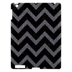 Chevron9 Black Marble & Gray Denim (r) Apple Ipad 3/4 Hardshell Case by trendistuff