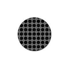 Circles1 Black Marble & Gray Denim Golf Ball Marker (4 Pack) by trendistuff