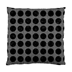 Circles1 Black Marble & Gray Denim Standard Cushion Case (two Sides) by trendistuff
