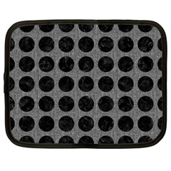 Circles1 Black Marble & Gray Denim Netbook Case (xxl)  by trendistuff