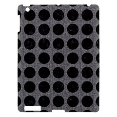 Circles1 Black Marble & Gray Denim Apple Ipad 3/4 Hardshell Case by trendistuff