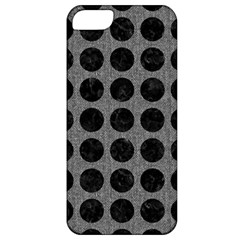 Circles1 Black Marble & Gray Denim Apple Iphone 5 Classic Hardshell Case by trendistuff