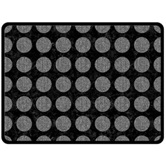 Circles1 Black Marble & Gray Denim (r) Double Sided Fleece Blanket (large)  by trendistuff