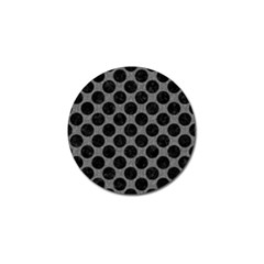 Circles2 Black Marble & Gray Denim Golf Ball Marker (4 Pack) by trendistuff