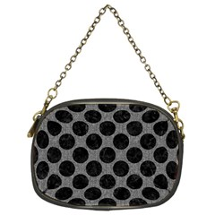 Circles2 Black Marble & Gray Denim Chain Purses (two Sides)  by trendistuff