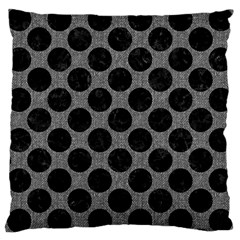 Circles2 Black Marble & Gray Denim Large Cushion Case (one Side) by trendistuff