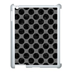 Circles2 Black Marble & Gray Denim Apple Ipad 3/4 Case (white) by trendistuff