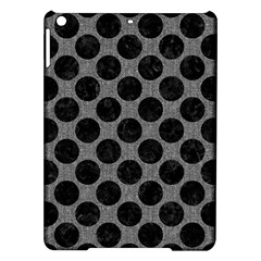 Circles2 Black Marble & Gray Denim Ipad Air Hardshell Cases by trendistuff