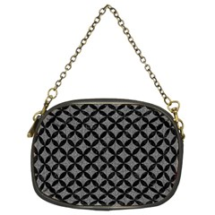 Circles3 Black Marble & Gray Denim Chain Purses (two Sides)  by trendistuff