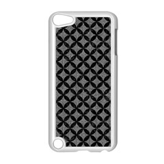 Circles3 Black Marble & Gray Denim Apple Ipod Touch 5 Case (white) by trendistuff