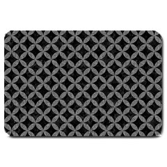 Circles3 Black Marble & Gray Denim (r) Large Doormat  by trendistuff