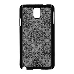 Damask1 Black Marble & Gray Denim Samsung Galaxy Note 3 Neo Hardshell Case (black) by trendistuff