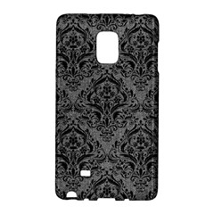 Damask1 Black Marble & Gray Denim Galaxy Note Edge by trendistuff