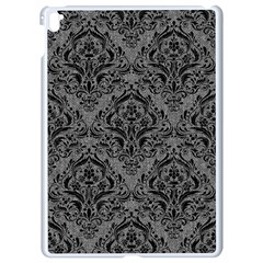 Damask1 Black Marble & Gray Denim Apple Ipad Pro 9 7   White Seamless Case by trendistuff