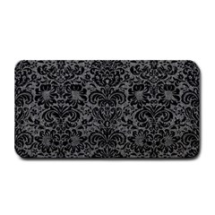 Damask2 Black Marble & Gray Denim Medium Bar Mats