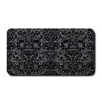 DAMASK2 BLACK MARBLE & GRAY DENIM Medium Bar Mats 16 x8.5  Bar Mat