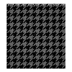 Houndstooth1 Black Marble & Gray Denim Shower Curtain 66  X 72  (large)  by trendistuff