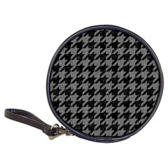 Houndstooth1 Black Marble & Gray Denim Classic 20 Cd Wallets by trendistuff