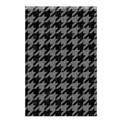 Houndstooth1 Black Marble & Gray Denim Shower Curtain 48  X 72  (small)  by trendistuff