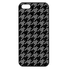 Houndstooth1 Black Marble & Gray Denim Apple Iphone 5 Seamless Case (black) by trendistuff