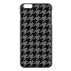 Houndstooth1 Black Marble & Gray Denim Apple Iphone 6 Plus/6s Plus Black Enamel Case by trendistuff