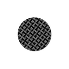 Houndstooth2 Black Marble & Gray Denim Golf Ball Marker (4 Pack) by trendistuff