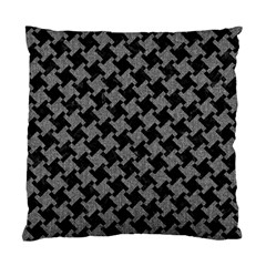 Houndstooth2 Black Marble & Gray Denim Standard Cushion Case (two Sides) by trendistuff