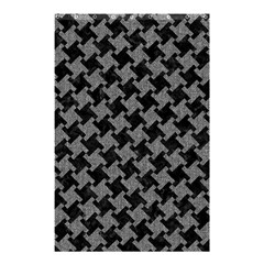 Houndstooth2 Black Marble & Gray Denim Shower Curtain 48  X 72  (small)  by trendistuff