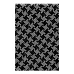HOUNDSTOOTH2 BLACK MARBLE & GRAY DENIM Shower Curtain 48  x 72  (Small)  42.18 x64.8 Curtain