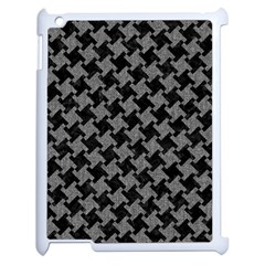 Houndstooth2 Black Marble & Gray Denim Apple Ipad 2 Case (white) by trendistuff