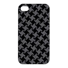 Houndstooth2 Black Marble & Gray Denim Apple Iphone 4/4s Hardshell Case by trendistuff