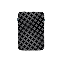 Houndstooth2 Black Marble & Gray Denim Apple Ipad Mini Protective Soft Cases by trendistuff