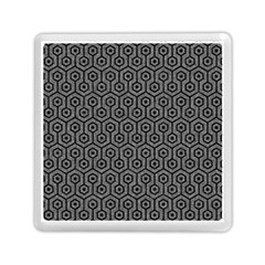 Hexagon1 Black Marble & Gray Denim Memory Card Reader (square)  by trendistuff