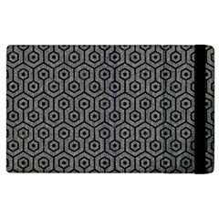 Hexagon1 Black Marble & Gray Denim Apple Ipad 2 Flip Case by trendistuff