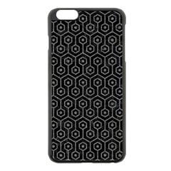 Hexagon1 Black Marble & Gray Denim (r) Apple Iphone 6 Plus/6s Plus Black Enamel Case by trendistuff