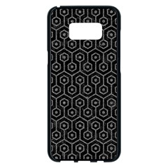 Hexagon1 Black Marble & Gray Denim (r) Samsung Galaxy S8 Plus Black Seamless Case by trendistuff