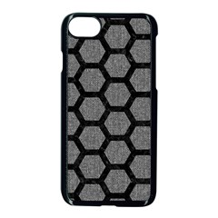 Hexagon2 Black Marble & Gray Denim Apple Iphone 8 Seamless Case (black) by trendistuff