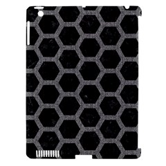 Hexagon2 Black Marble & Gray Denim (r) Apple Ipad 3/4 Hardshell Case (compatible With Smart Cover) by trendistuff