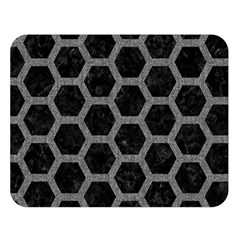 Hexagon2 Black Marble & Gray Denim (r) Double Sided Flano Blanket (large)  by trendistuff