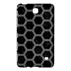Hexagon2 Black Marble & Gray Denim (r) Samsung Galaxy Tab 4 (8 ) Hardshell Case  by trendistuff