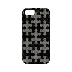 Puzzle1 Black Marble & Gray Denim Apple Iphone 5 Classic Hardshell Case (pc+silicone) by trendistuff