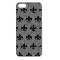 Royal1 Black Marble & Gray Denim (r) Apple Seamless Iphone 5 Case (clear) by trendistuff