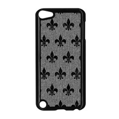 Royal1 Black Marble & Gray Denim (r) Apple Ipod Touch 5 Case (black) by trendistuff